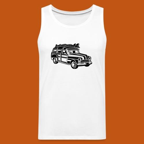 Chevy Cadilac Woodie / Oldtimer Kombi 01_schwarz - Männer Premium Tank Top