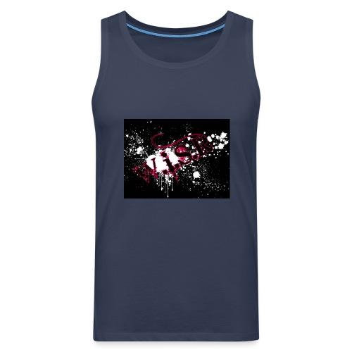 wisr puna musta splash t-paita - Miesten premium hihaton paita