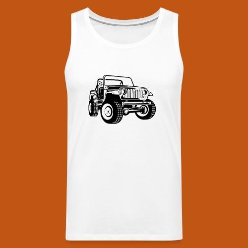 Geländewagen / Jeep SUV 03_schwarz - Männer Premium Tank Top