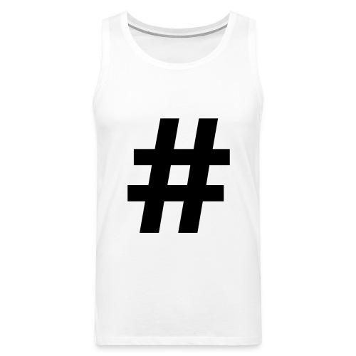 #Hashtag - Mannen Premium tank top
