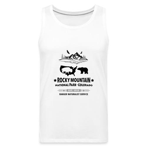 Rocky Mountain Nationalpark Berg Bison Grizzly Bär - Men's Premium Tank Top