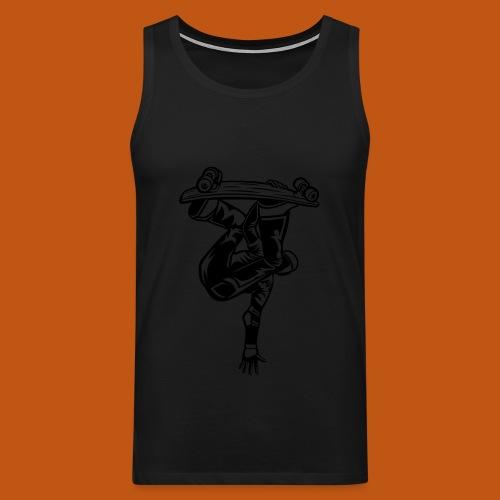 Skater / Skateboarder 03_schwarz - Männer Premium Tank Top