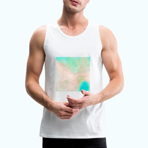 Atoll beach watercolor beige nature - Men's Premium Tank Top