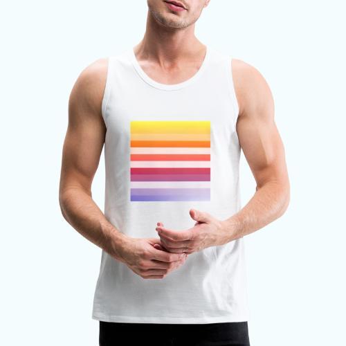 Rainbow Abstract Acrylic Painting - Men's Premium Tank Top
