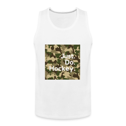 Just.Do.Hockey 2.0 - Mannen Premium tank top