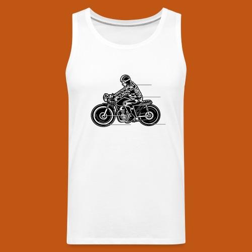 Cafe Racer Motorrad 04_schwarz - Männer Premium Tank Top