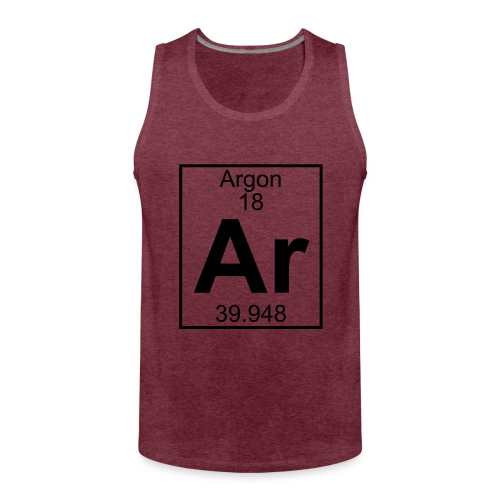Argon (Ar) (element 18) - Men's Premium Tank Top