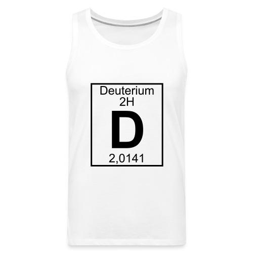 D (Deuterium) - Element 2H - pfll - Men's Premium Tank Top