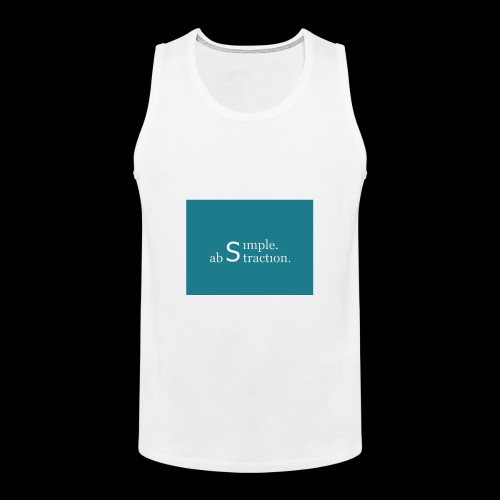 simple. abstraction. Logo - Männer Premium Tank Top