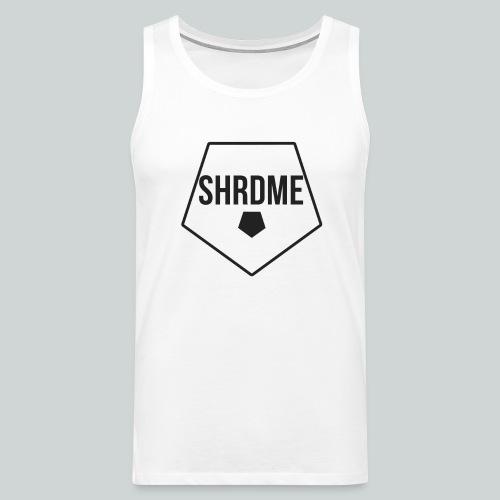 SHRDME Logo Weiß png - Männer Premium Tank Top