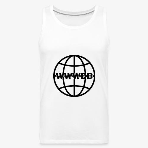 WWWeb (black) - Men's Premium Tank Top