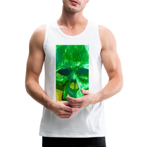 Green Skull - Mannen Premium tank top