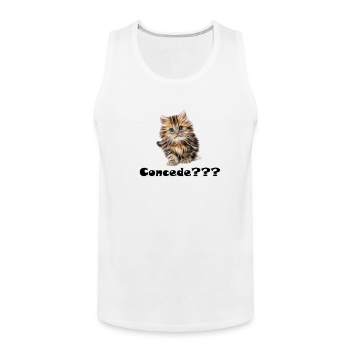 Concede kitty - Premium singlet for menn