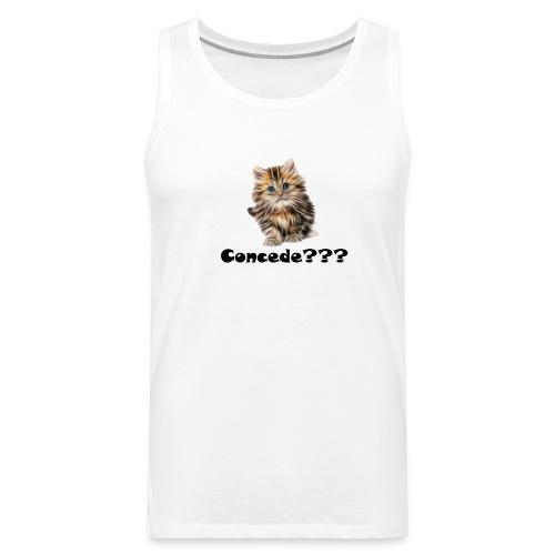 Concede kitty - Premium singlet for menn