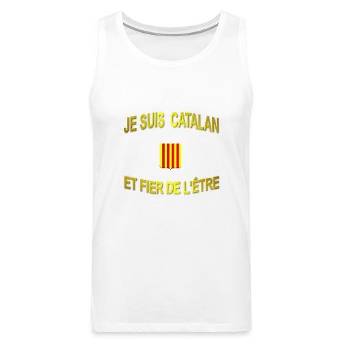 Tee-Shirt supporter du pays CATALAN - Débardeur Premium Homme