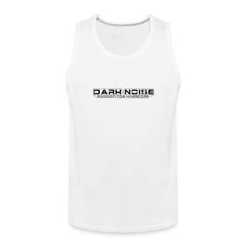 dark noise6 big white png - Mannen Premium tank top