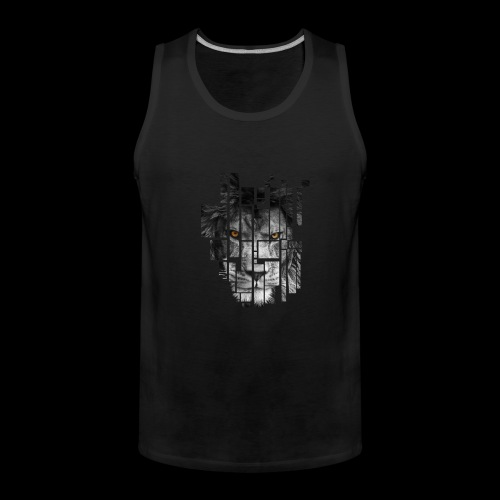 Pixel Lion Tattoo Inspire - Men's Premium Tank Top