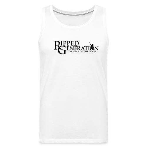 Ripped Generation Tekstilogo - Miesten premium hihaton paita