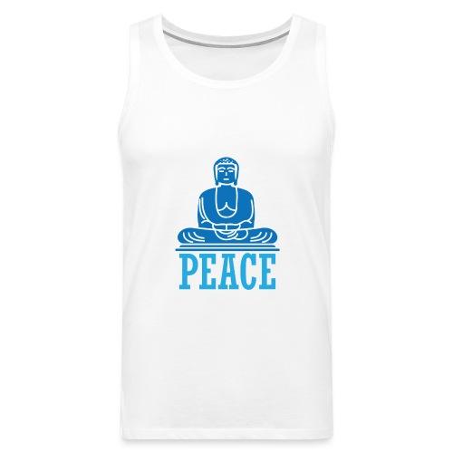 Buddha Meditating. - Men's Premium Tank Top