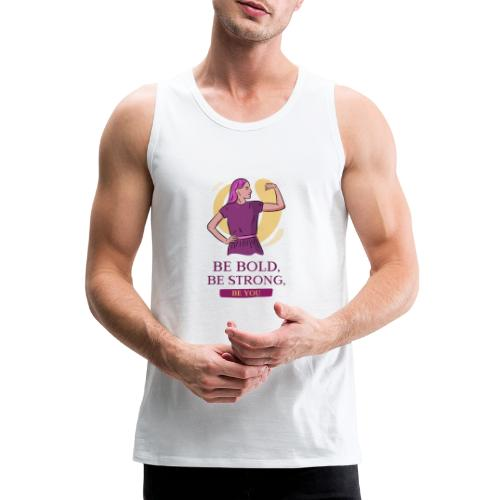 t shirt design generator featuring an empowered - Tank top premium hombre