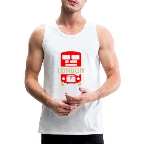 London Bus Roter Doppeldecker London Fan Souvenir - Männer Premium Tank Top