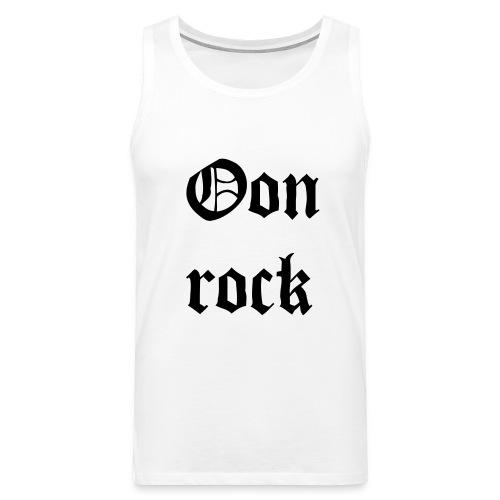 rock - Miesten premium hihaton paita
