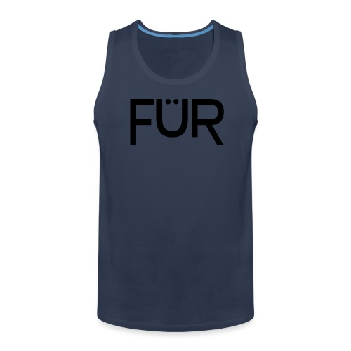 fuer shirt black 01 - Men's Premium Tank Top
