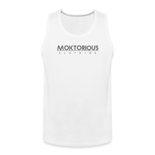 MOKTORIOUS CLOTHING - BLACK - VERTICAL - Männer Premium Tank Top