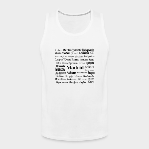 European capitals - Men's Premium Tank Top
