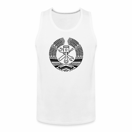 DDR Tuning Coat of Arms 1c (+ Your Text) - Men's Premium Tank Top