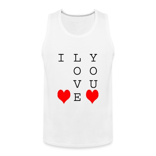 I Love You - Men's Premium Tank Top