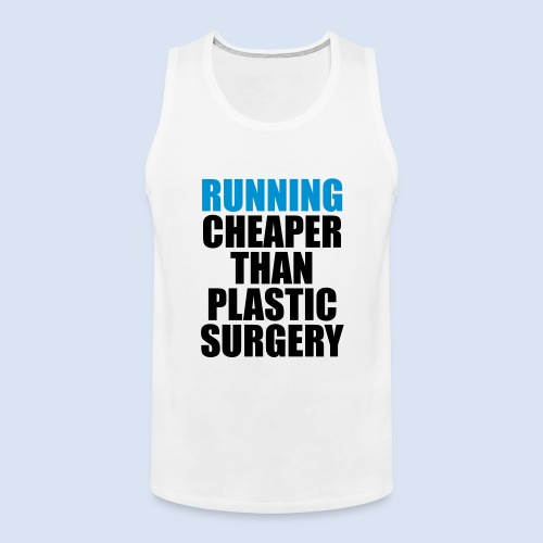 Running is cheaper than - Männer Premium Tank Top
