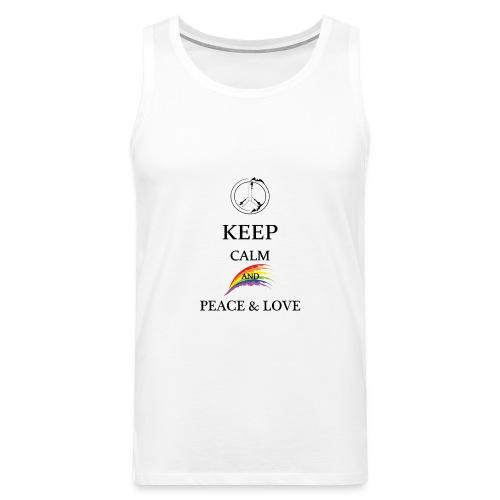 keep calm and Peace & Lov - Canotta premium da uomo