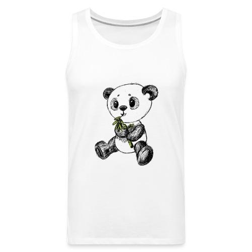 Panda bjørn farvet scribblesirii - Herre Premium tanktop