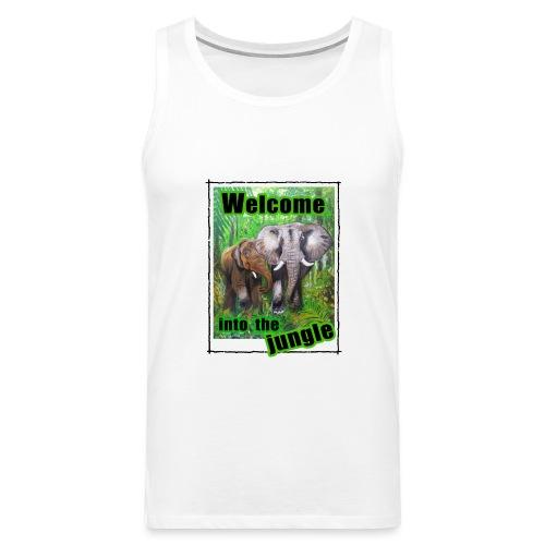 Willkommen im Dschungel - Männer Premium Tank Top