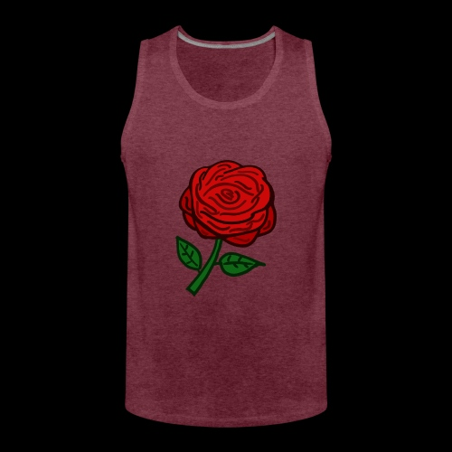 Rote Rose - Männer Premium Tank Top
