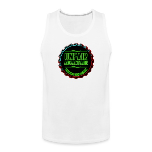 UFAV Back and Green Logo - Men's Premium Tank Top