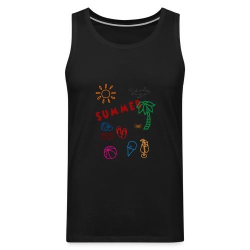 Summer - Miesten premium hihaton paita