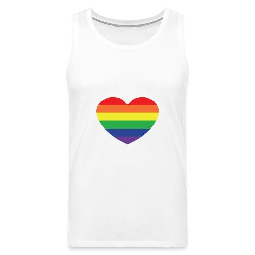 Rainbow heart - Men's Premium Tank Top
