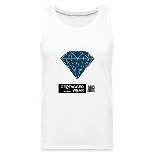 Men Diamond Pantone Sailor Blue - Männer Premium Tank Top