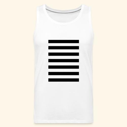 White Lands Streifen Muster - Männer Premium Tank Top