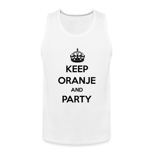 KEEP ORANJE AND PARTY - Mannen Premium tank top