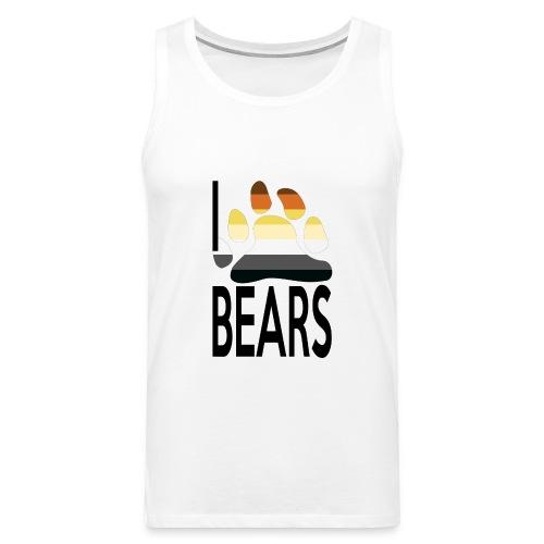 I love bears - Débardeur Premium Homme