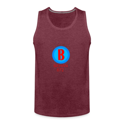 Rep that Behan 872 logo guys peace - Men's Premium Tank Top