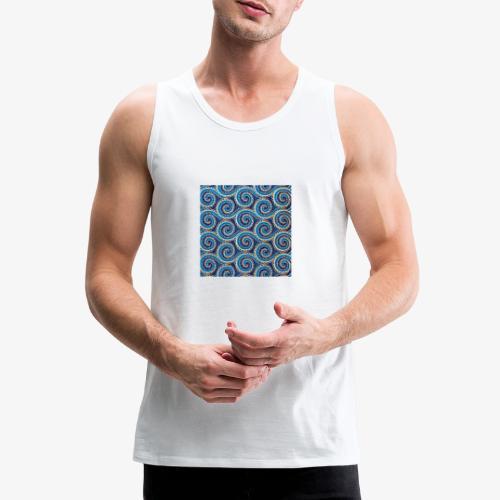 Spirales au motif bleu - Débardeur Premium Homme