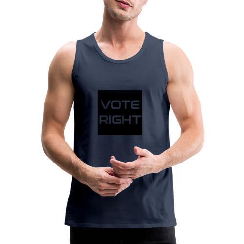 vote right - Männer Premium Tank Top