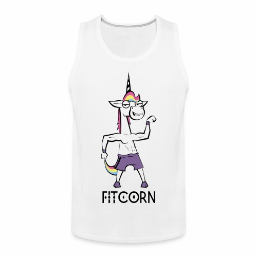 Fitcorn - das sportliche Einhorn - Männer Premium Tank Top