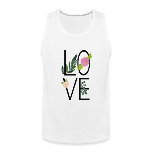Love Sign with flowers - Men's Premium Tank Top
