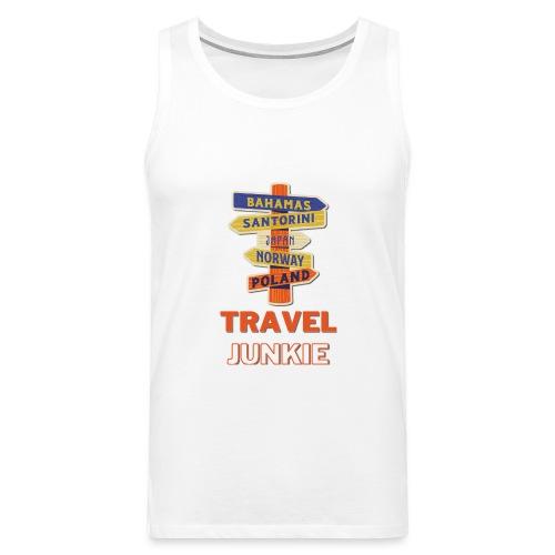 traveljunkie - i like to travel - Männer Premium Tank Top