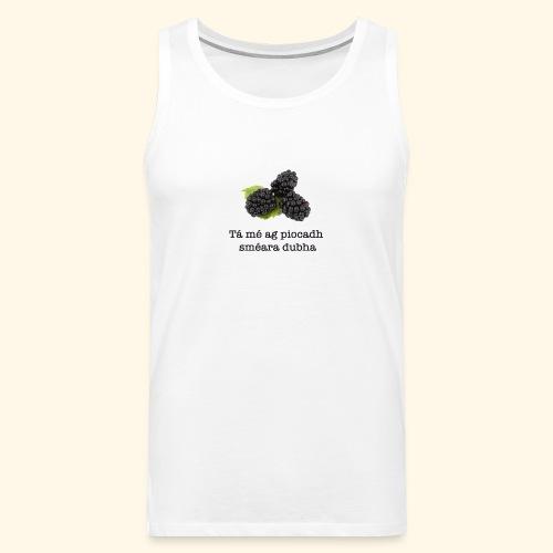 Picking blackberries - Men's Premium Tank Top